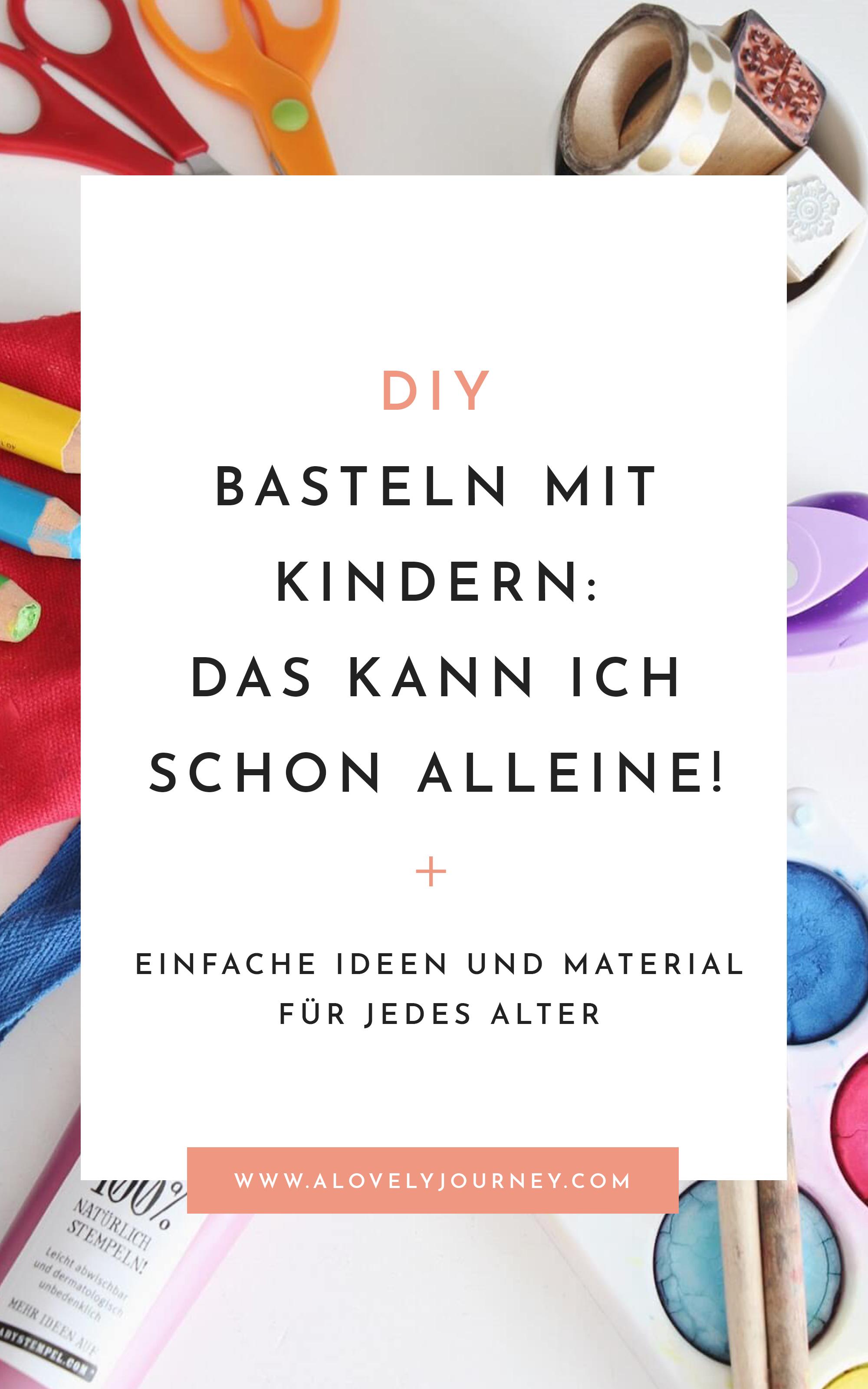 Basteln mit Kindern: Das können Kindern von 1 bis 4 Jahren einfach selbst machen