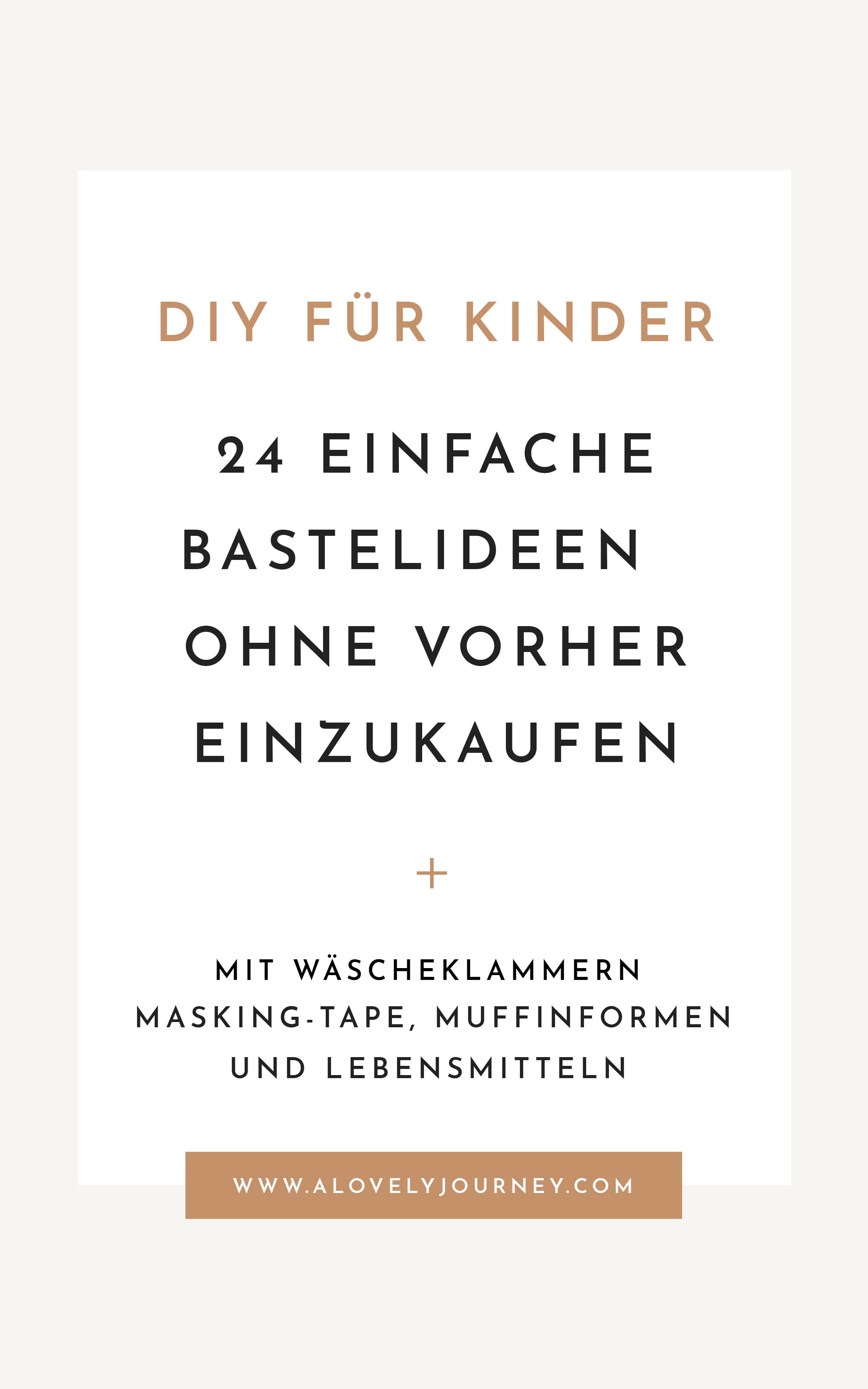 24 Bastelideen für Kinder ohne vorher einzukaufen: Wäscheklammern, Muffinformen, Strohalme, Masking Tape