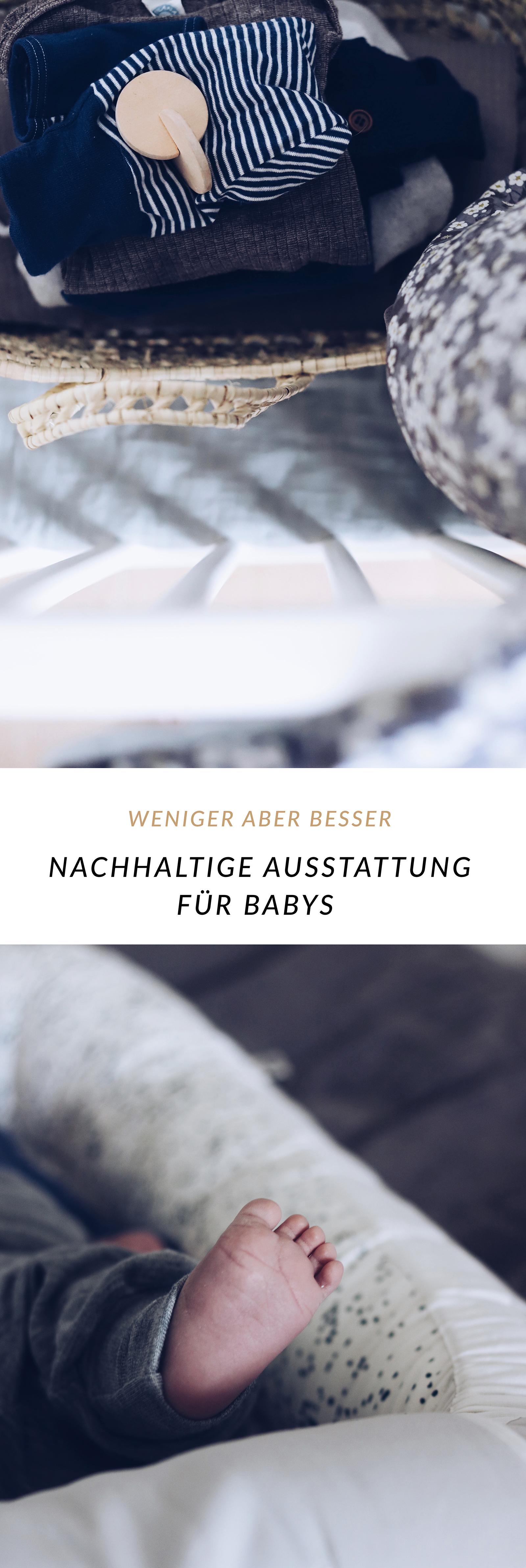 Nachhaltige minimalistische Erstausstattung fürs Baby