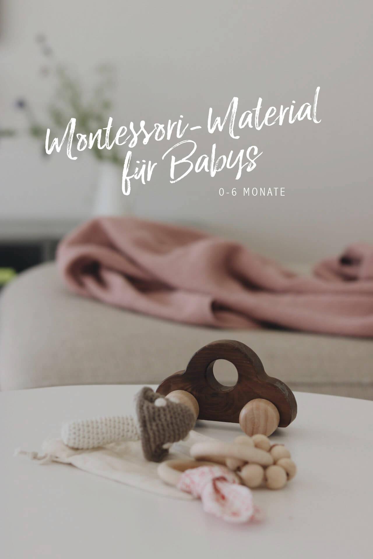Montessori Material für Babys: Greifspielzeug bis von 0 bis 6 Monaten