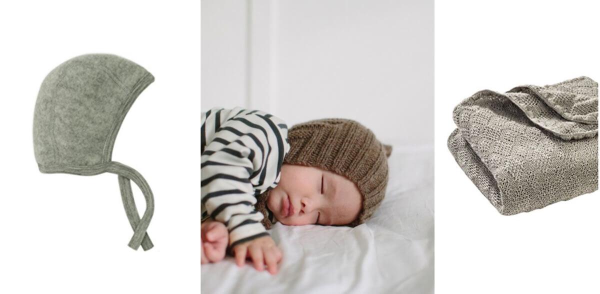 Herbstkleidung für Kinder, Wollkleidung für Babys, Pixie Mütze, Wolldecke