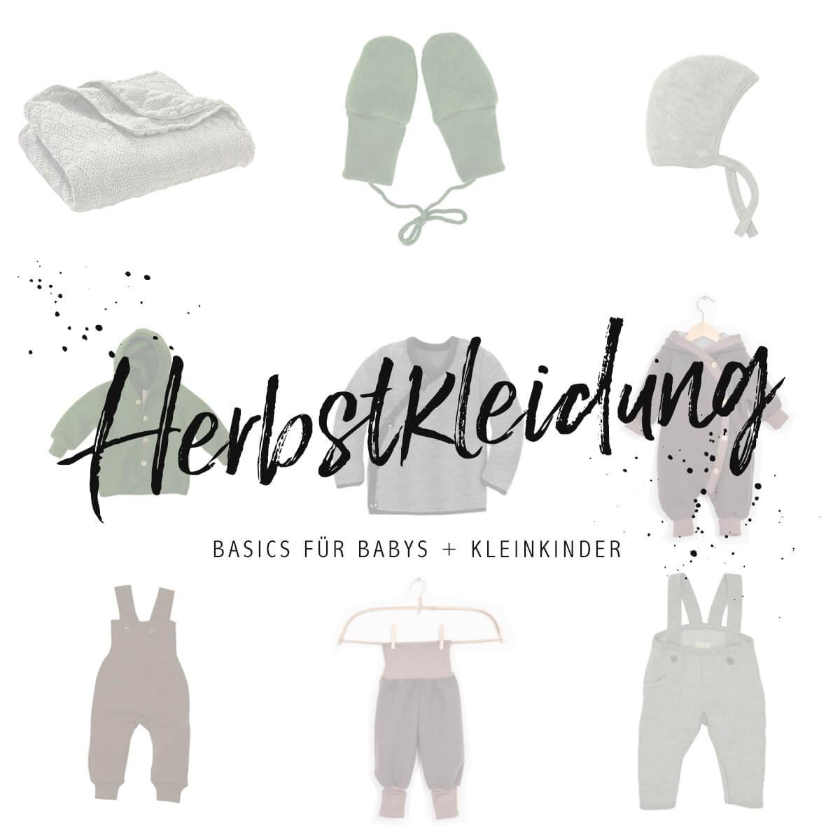 Herbstkleidung für Babys und Kleinkinder Minimalistisch