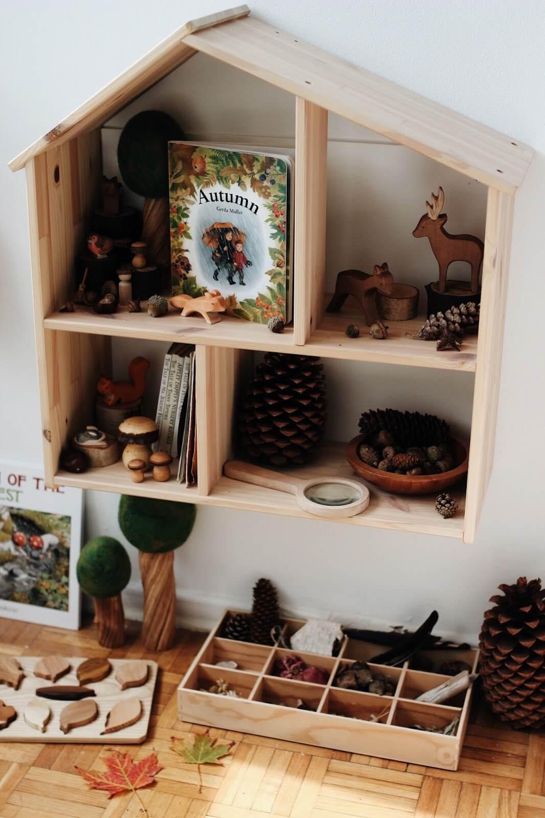 Jahreszeitentisch selbst machen: Die Jahreszeiten mit allen Sinnen erleben: