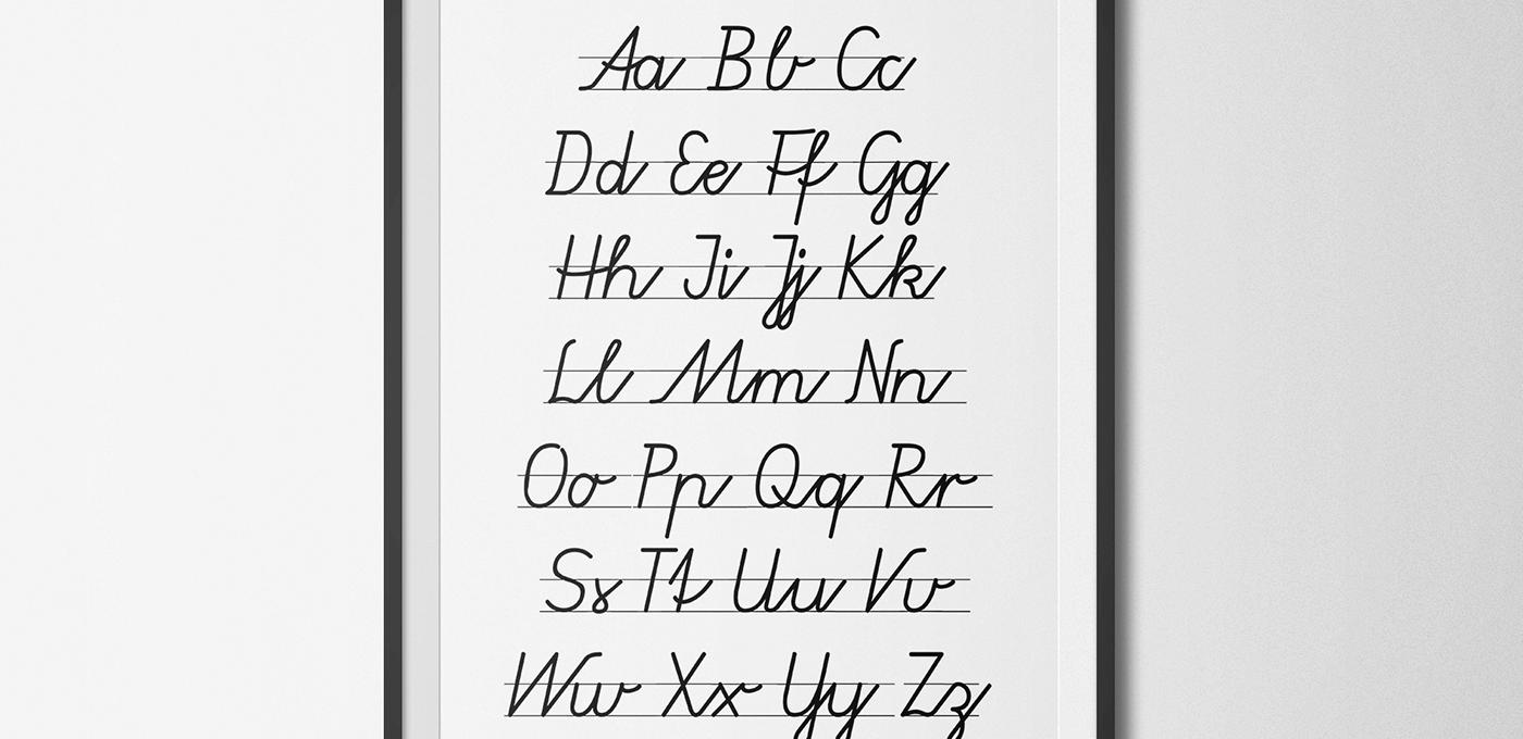 Schriftart Grundschule kostenlos free Font Vereinfachte Ausgangsschrift Grünewald VA, SAS 2