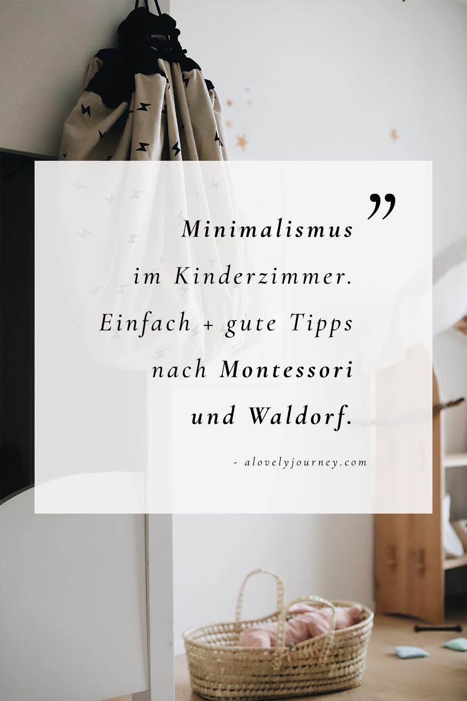 Minimalismus mit Kindern - Das Kinderzimmer einfach und gut einrichten