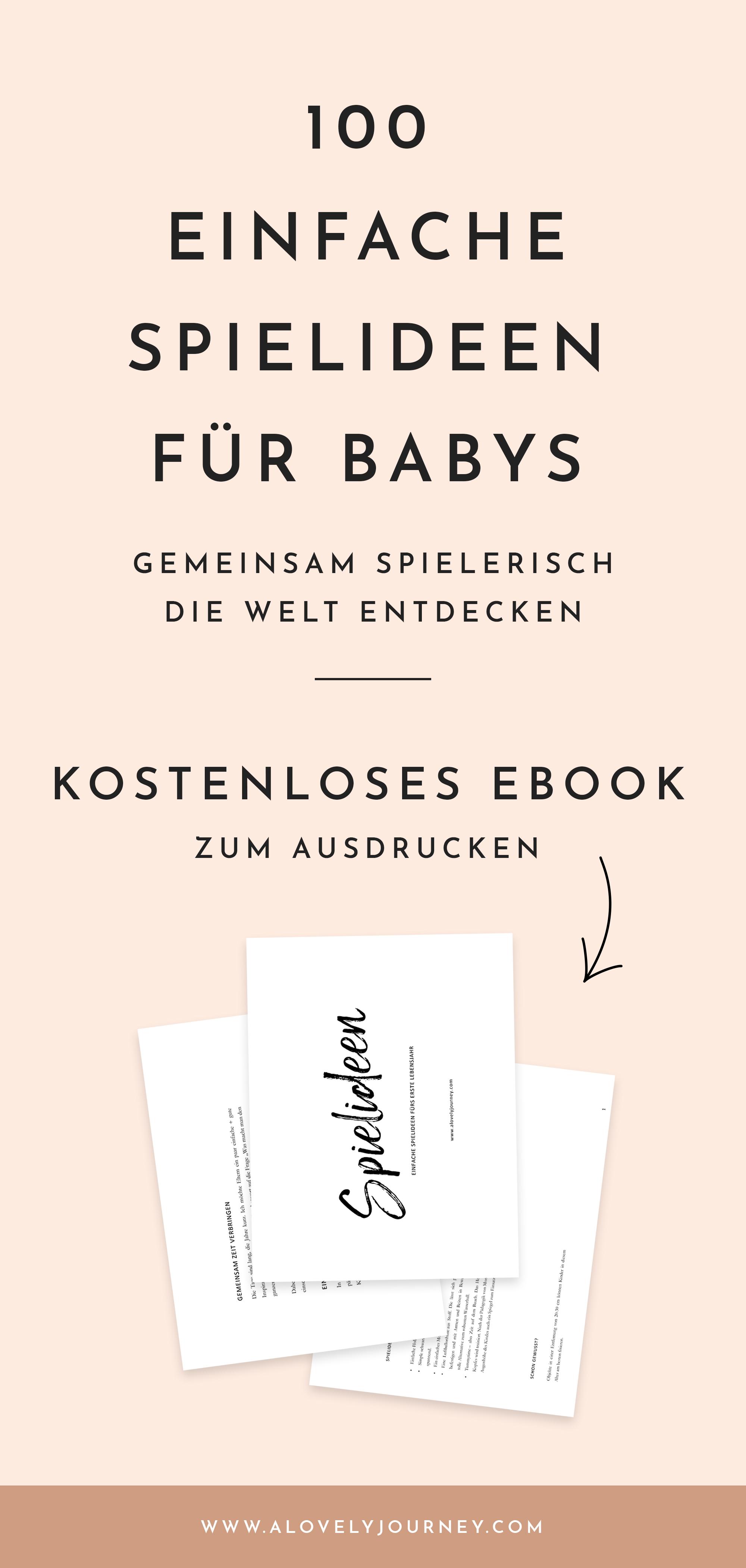 Kostenloses eBook: 100 einfache Spielideen für Babys zum Ausdrucken