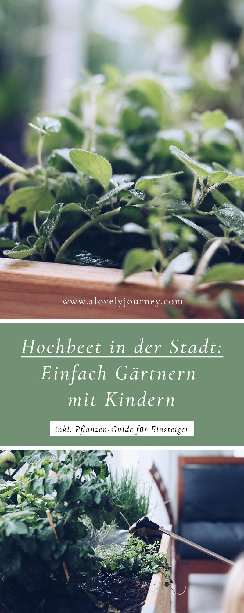 Gärtnern mit Kindern - Hochbeet auf dem Balkon, Urban Jungle oder DIY Nasschbeet