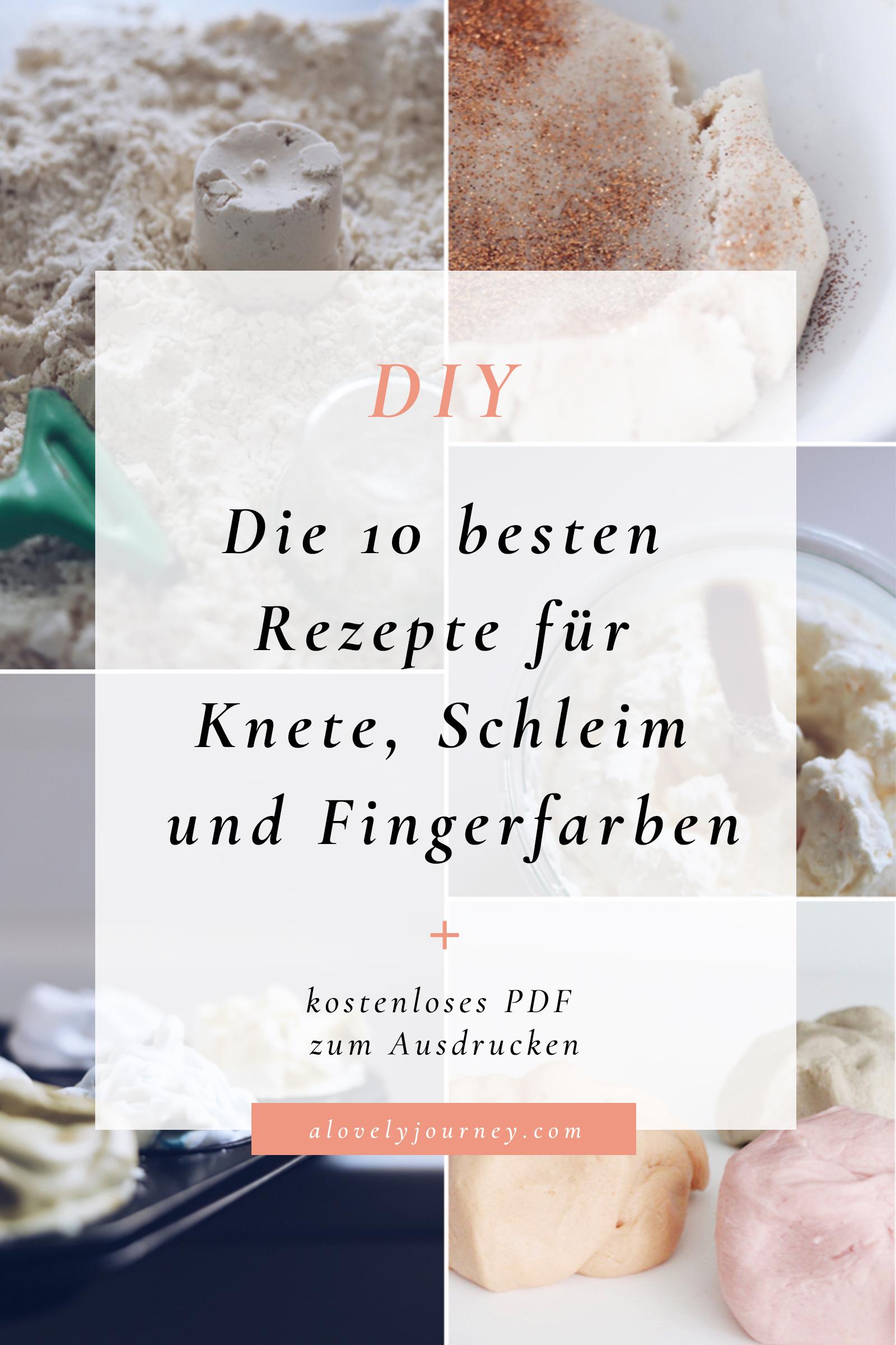 Die 10 besten DIY Rezepte für Knete, Schleim und Fingerfarben