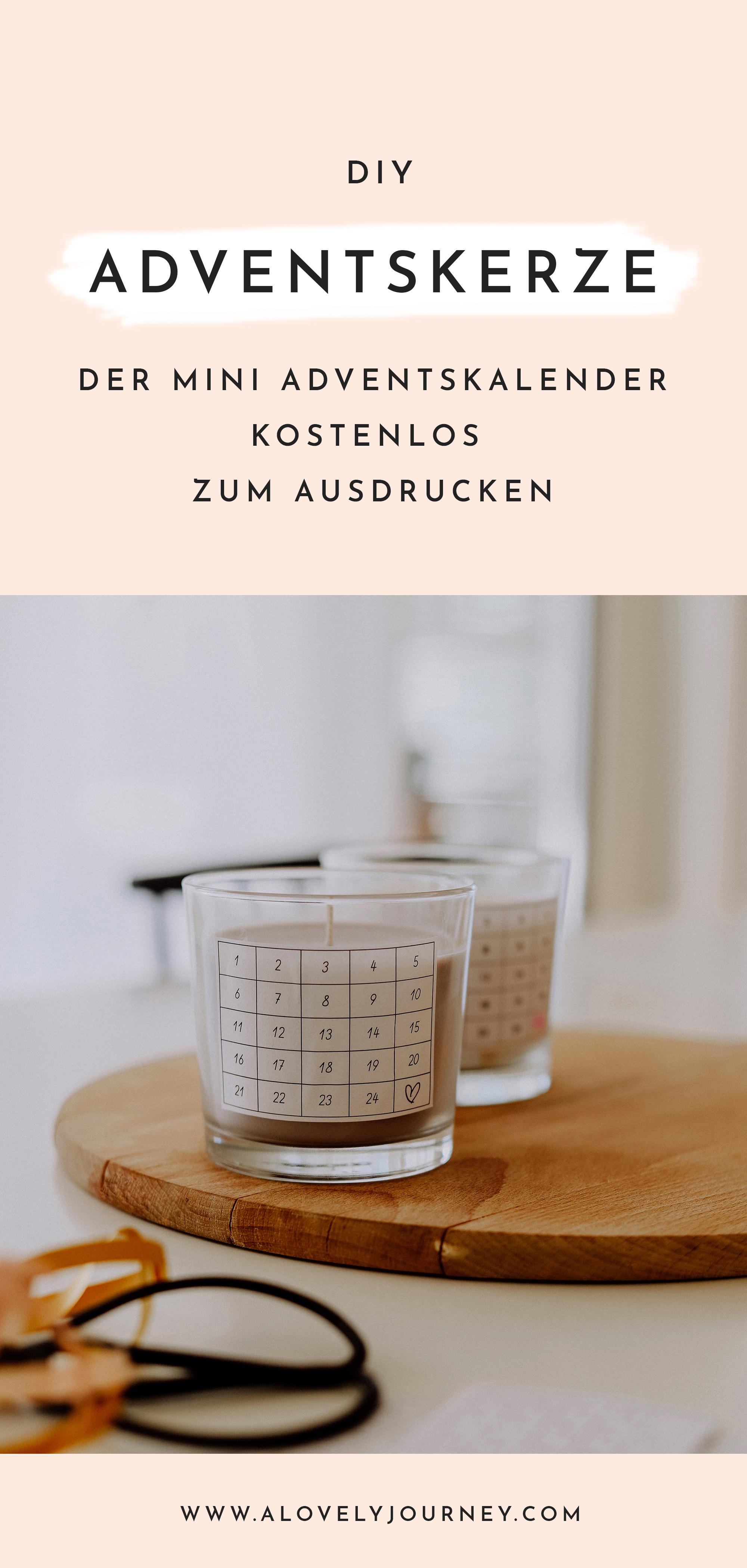 DIY Adventskerze - Der kostenlose Mini Adventskalender zum Ausdrucken