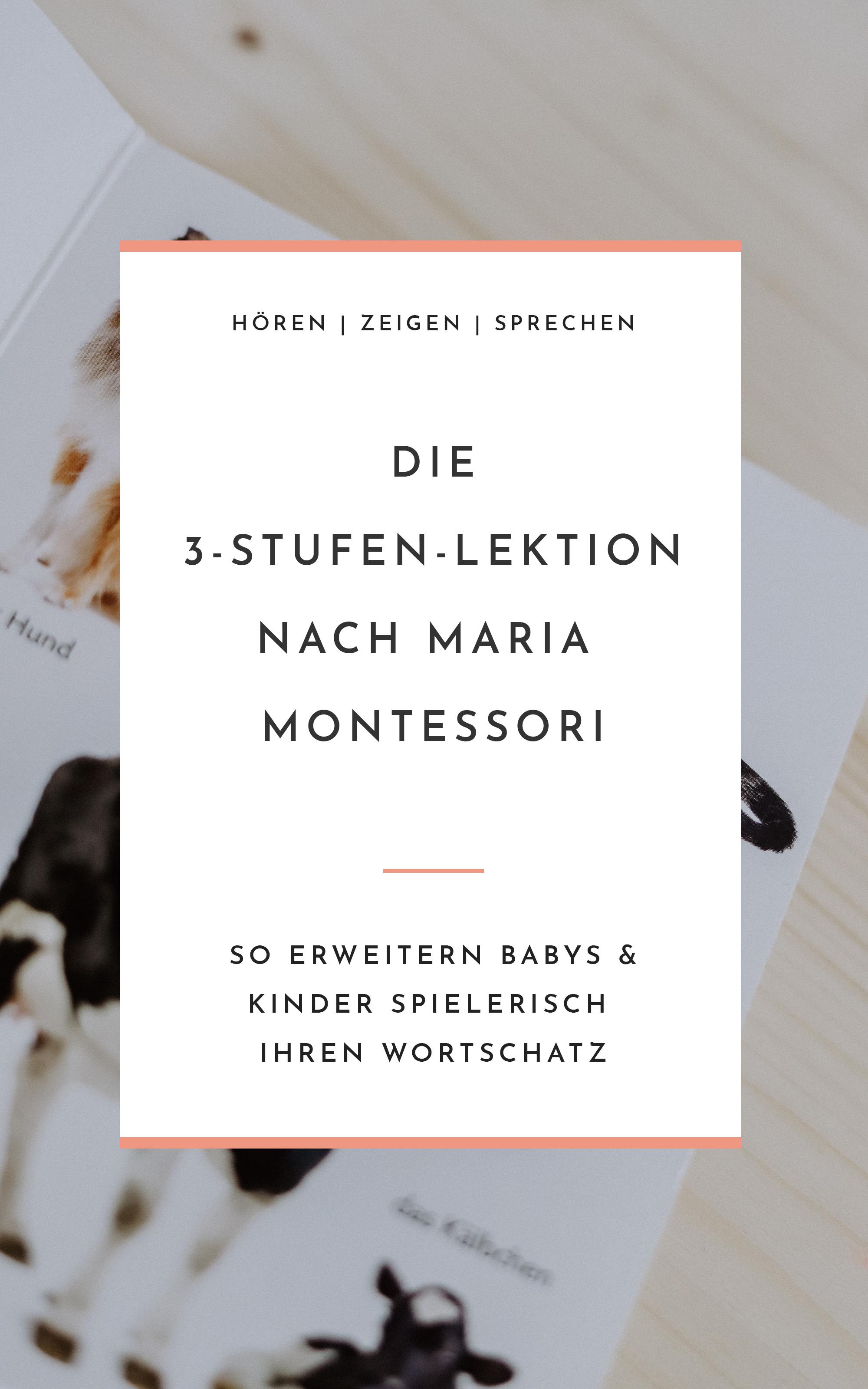 Drei-Stufen-Lektion nach Maria Montessori - Einfach lernen für Babys, Kleinkinder und Schulkinder