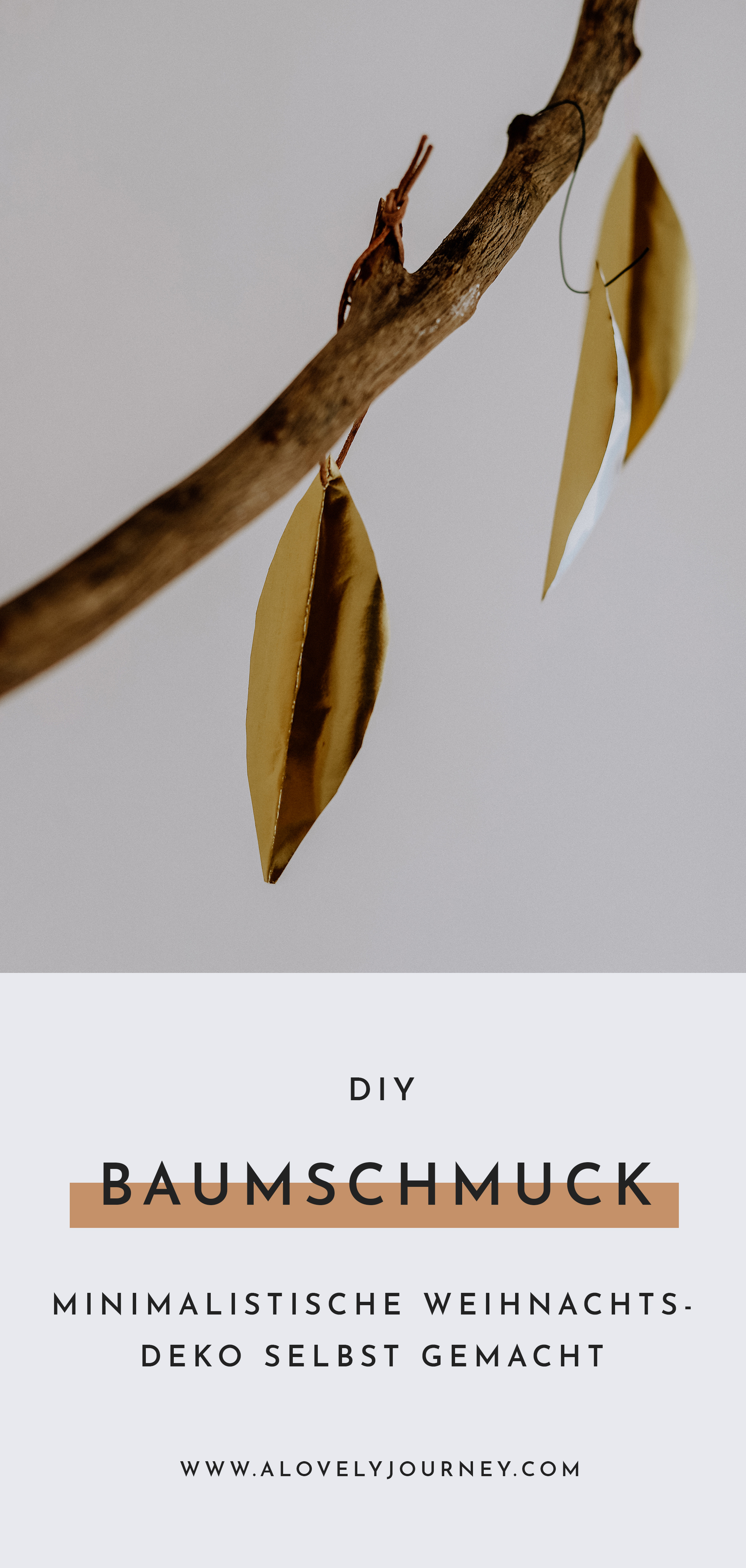 Weihnachtsdekoration: Skandinavisch minimalistischer Baumschmuck einfach selbst gemacht