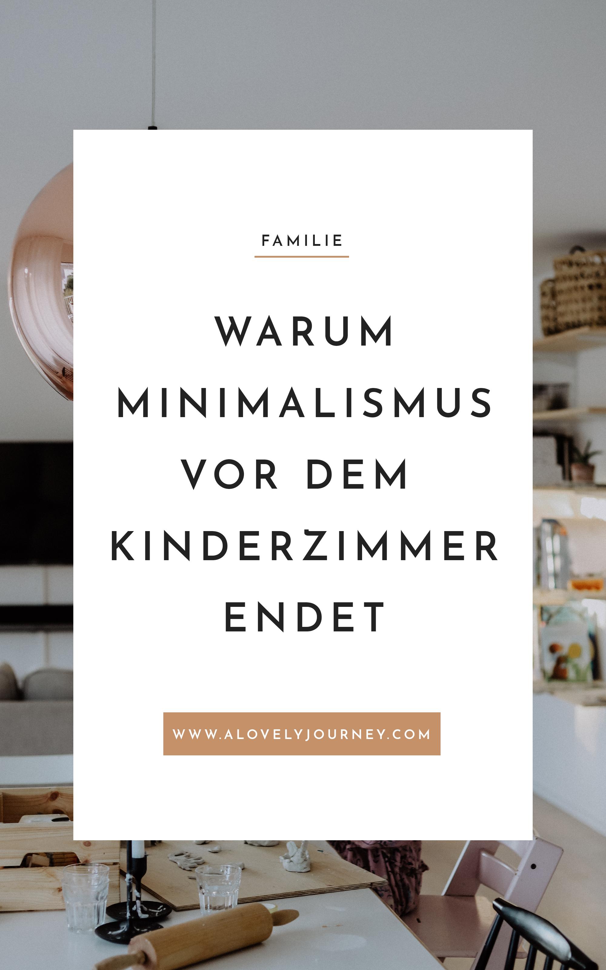 Wenn Minimalismus vor dem Kinderzimmer endet