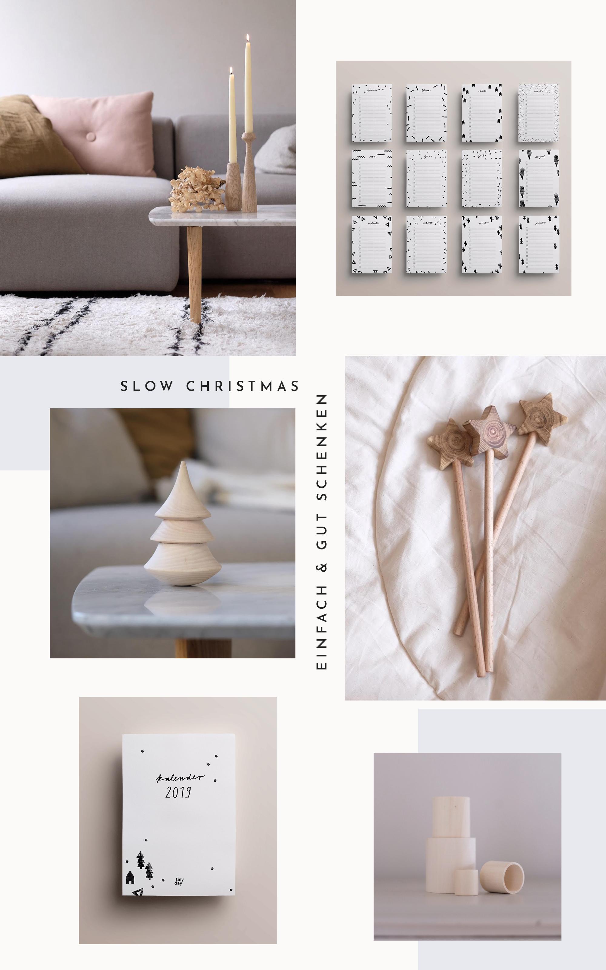 Slow Christmas: Zu Weihnachten einfach & gut schenken