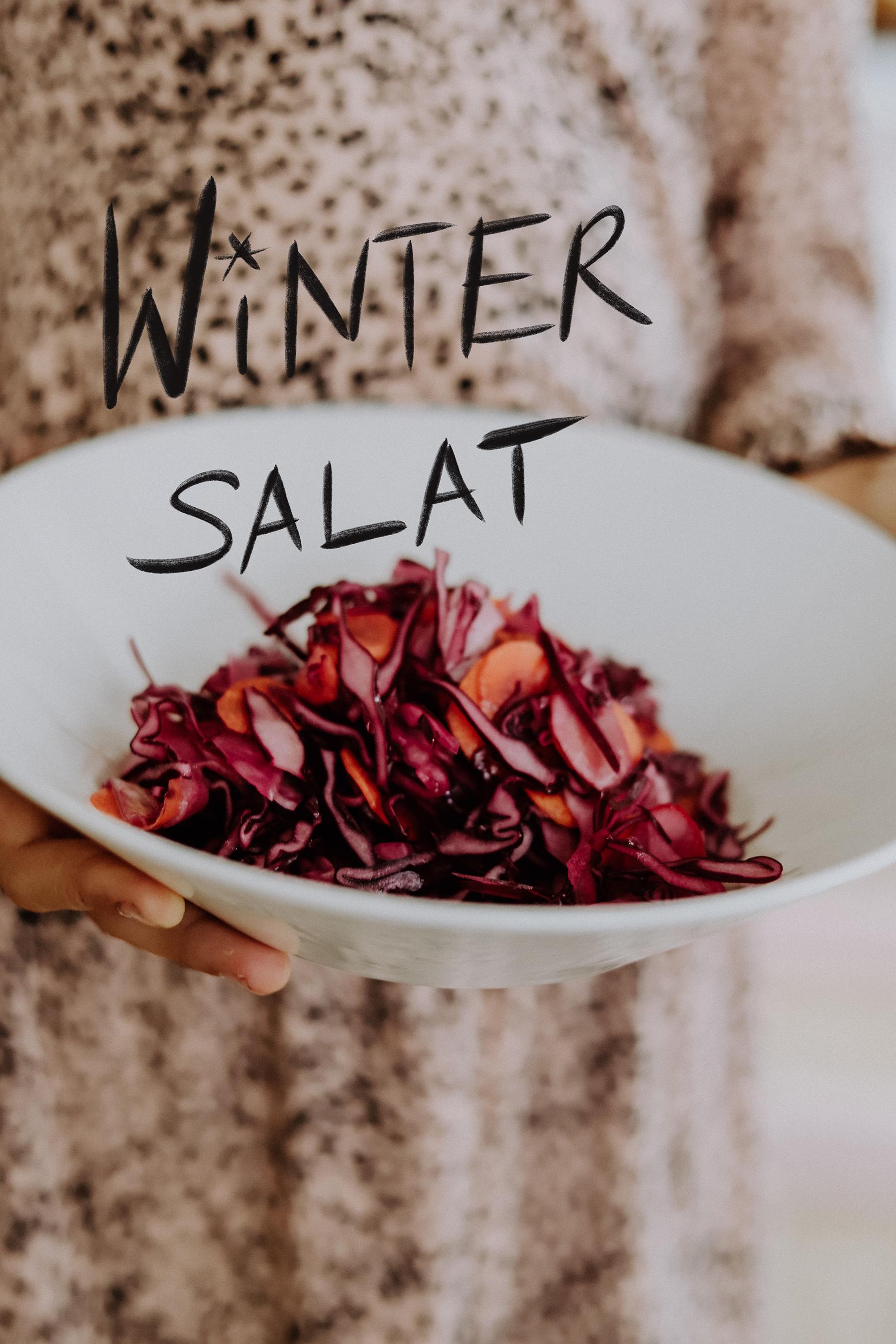 Rezepte: Winter Salat mit Rotkohl, Fenchel und Karotten