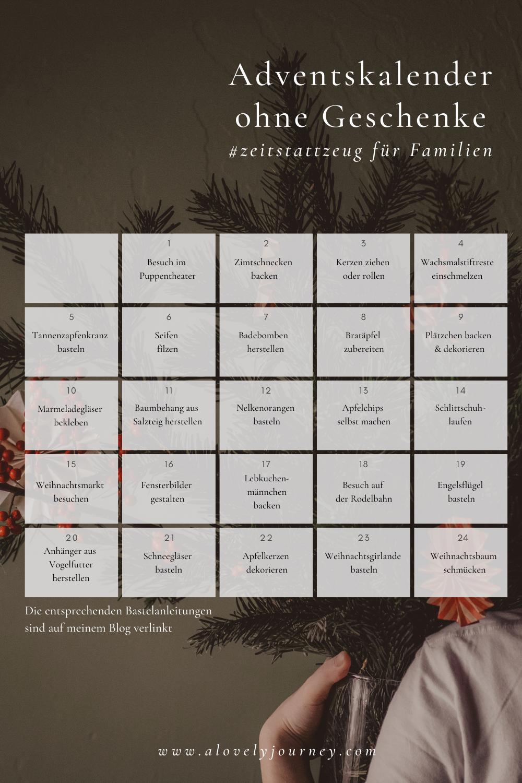 Adventskalender ohne Geschenke: Zeit statt Zeug für Familien