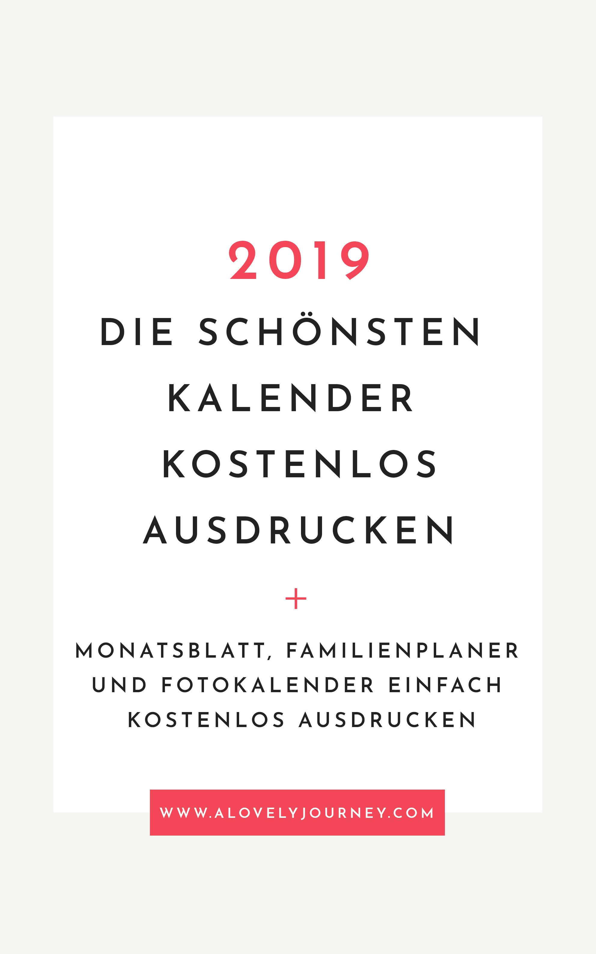 Organisiert: Die schönsten Kalender 2019 kostenlos ausducken