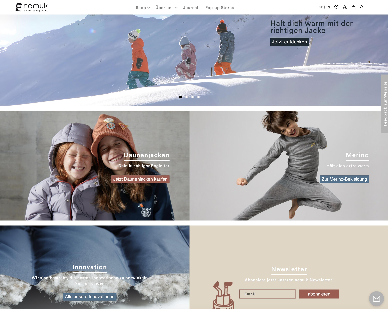 namuk Schweizer Outdoor Kleidung für Kinder Online Shop