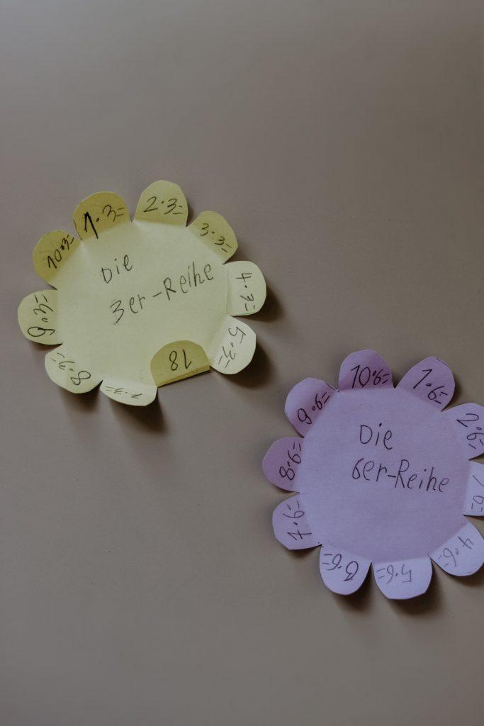 Rechenblumen kostenlos ausdrucken: Lernhilfe für Verliebte Zahlen, Einmaleins und vieles mehr