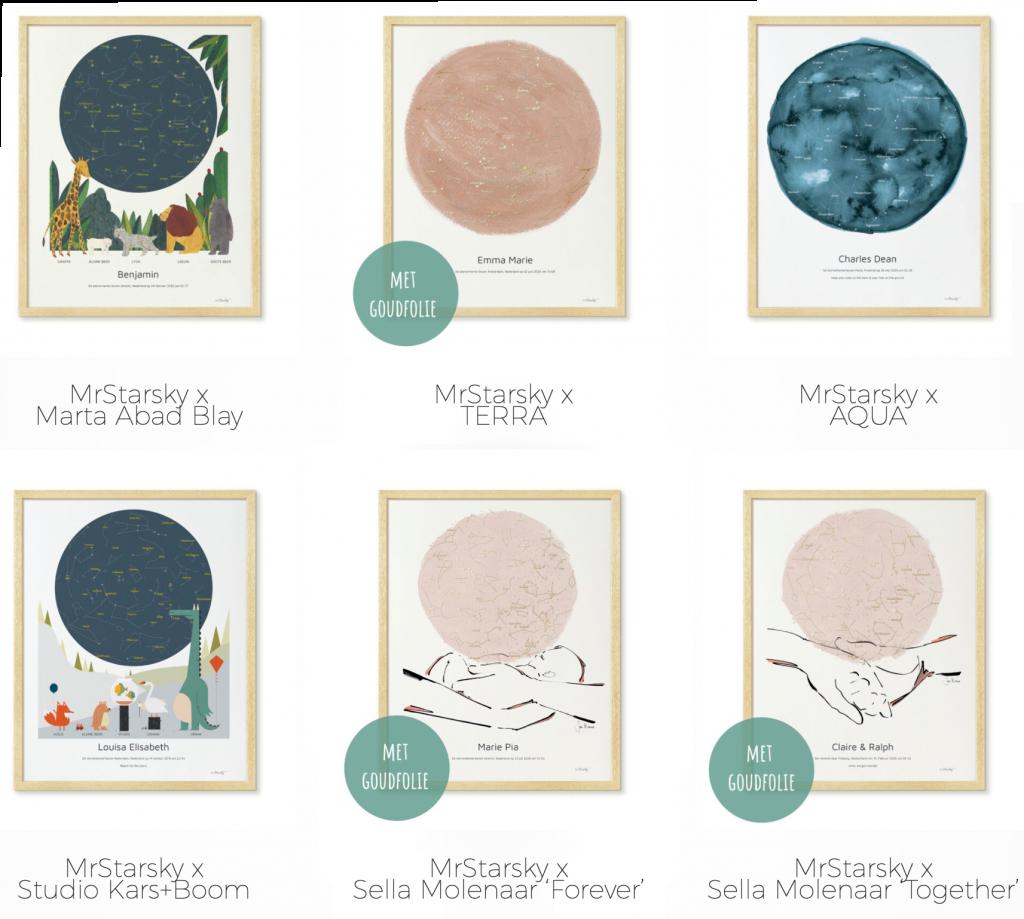 Sternenhimmel Poster von MrStarsky: Personalisierte Geburtsposter